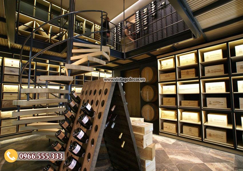 Mẫu showroom rượu vang sang trọng CHR30