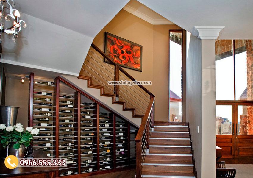 10 mẫu thi công hầm rượu gầm cầu thang đẹp nhất