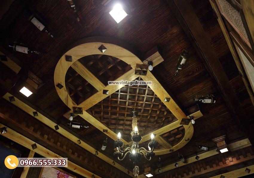 Mẫu thi công nhà hàng hầm rượu cổ điển BR83