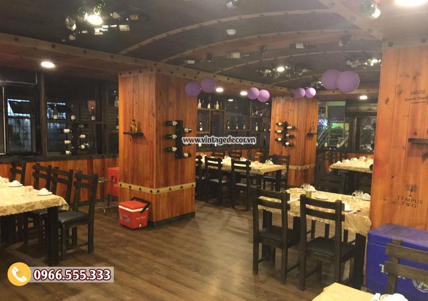 Mẫu hầm rượu nhà hàng gỗ thông tự nhiên BR70