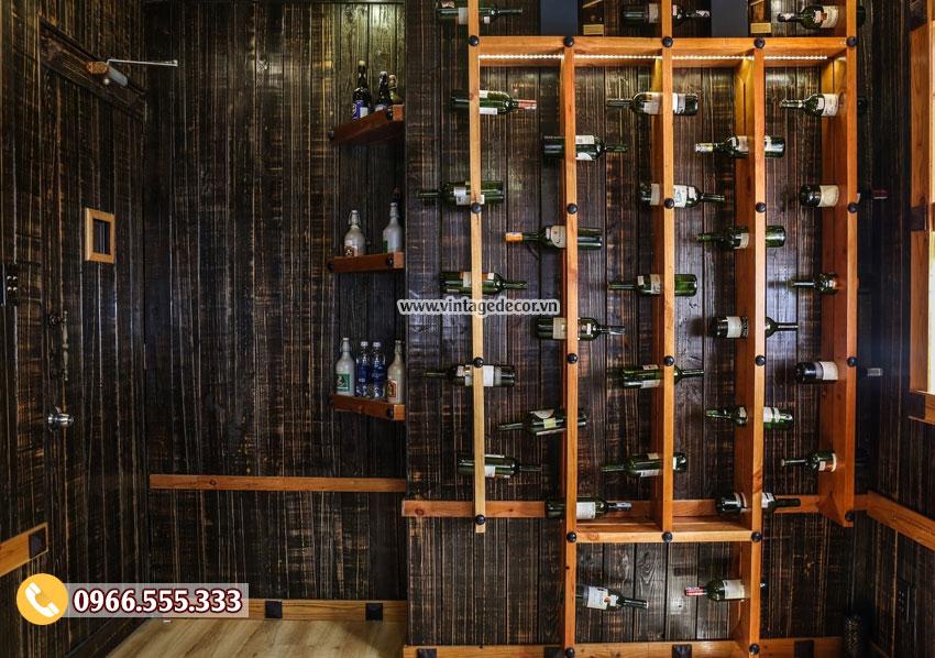 Mẫu thi công nhà hàng rượu vang đẹp BR72