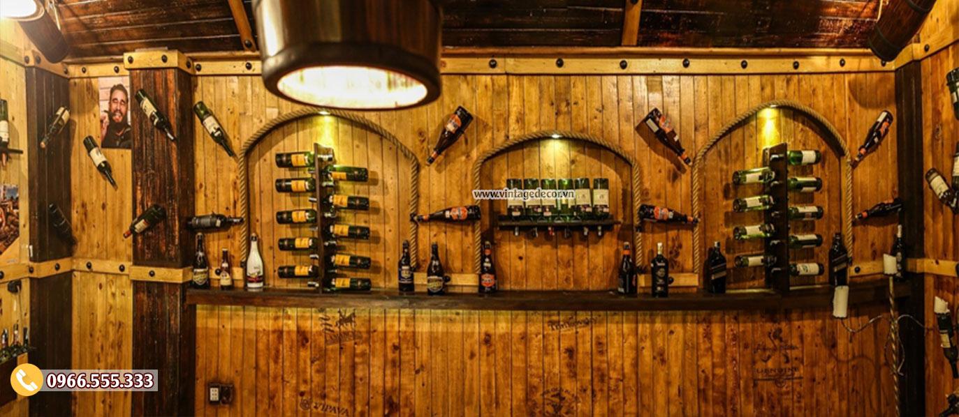 Mẫu cải tạo nhà hàng hầm rượu vang đẹp BR73
