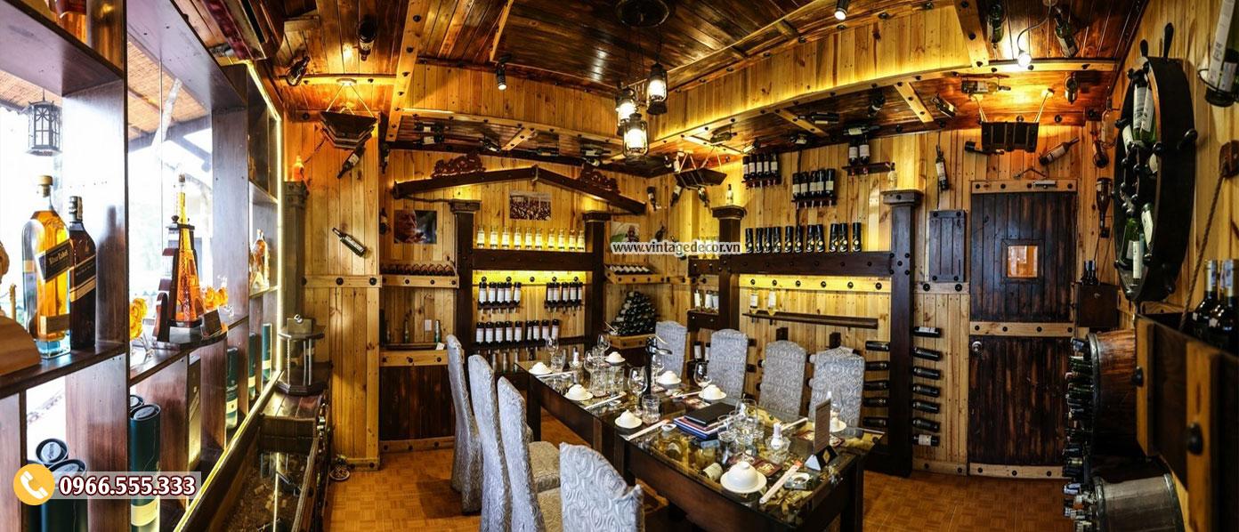 Mẫu thiết kế nhà hàng rượu vang cổ điển BR74