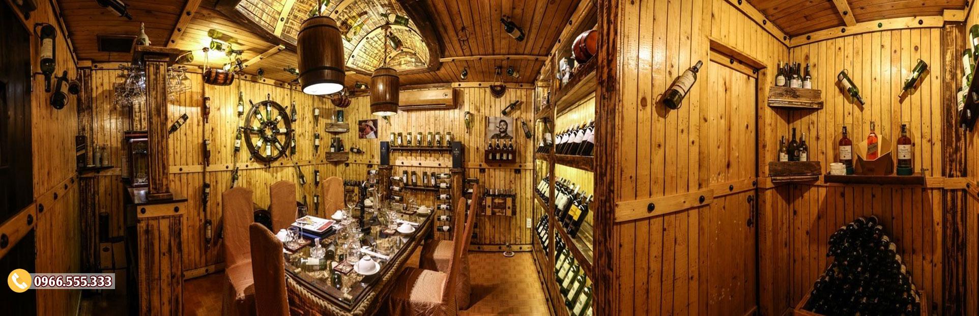 Mẫu thiết kế phòng Vip nhà hàng rượu vang BR78