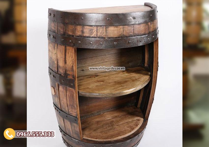 Mẫu tủ trống thùng rượu đa năng DL48
