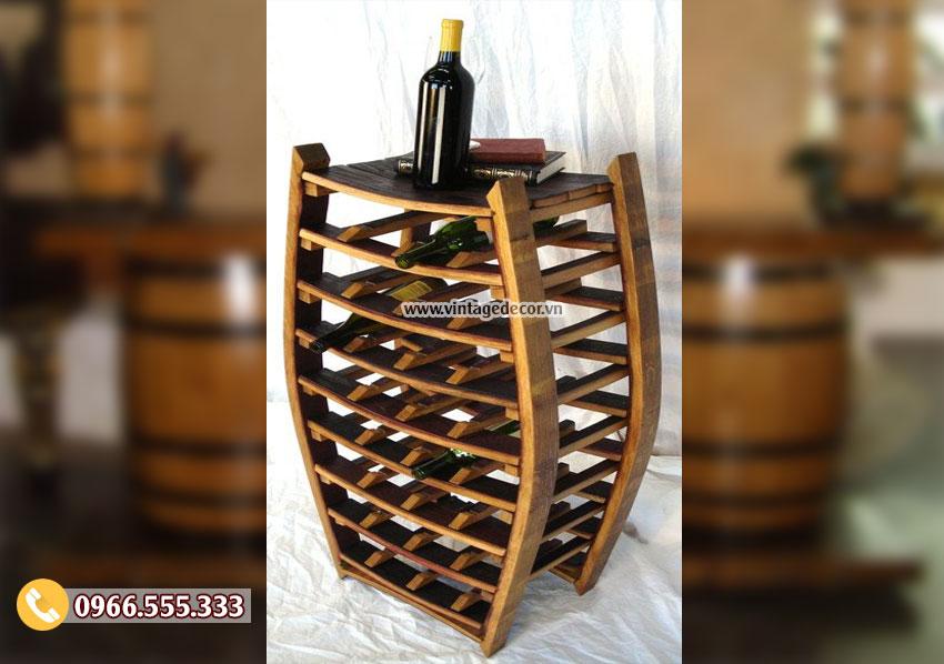Mẫu kệ tái chế từ thùng rượu vang gỗ sồi DL34