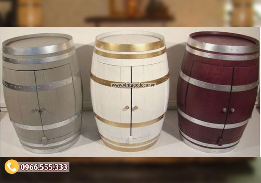 Mẫu tủ thùng trống rượu gỗ sồi DL37