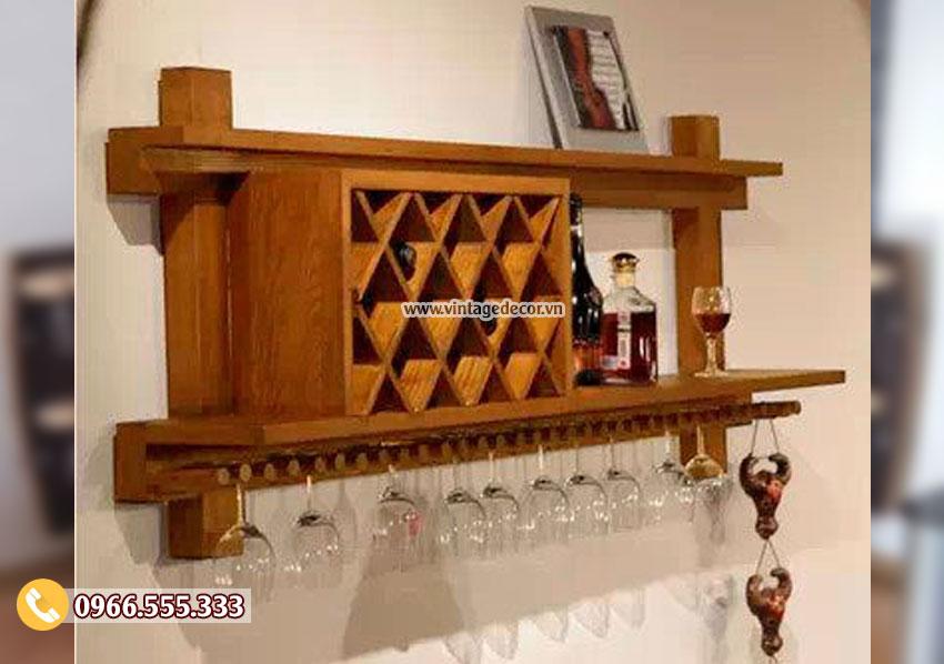 Mẫu kệ rượu trang trí đẹp KR24