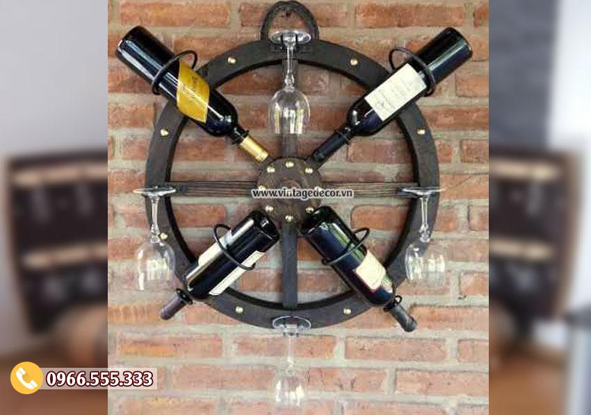 Mẫu kệ rượu treo tường đẹp KR38