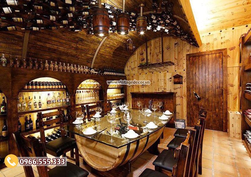 Mẫu nhà hàng hầm rượu cổ điển BR87