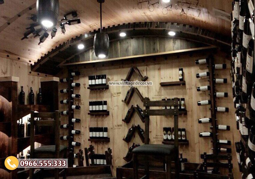 Mẫu trang trí hầm rượu nhà hàng đẹp BR92