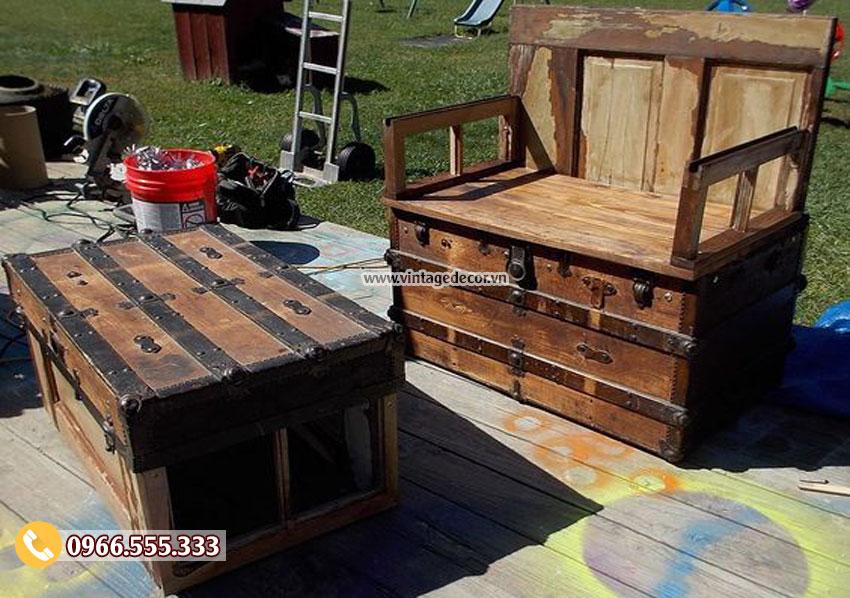 Mẫu rương gỗ Decor trang trí RG10