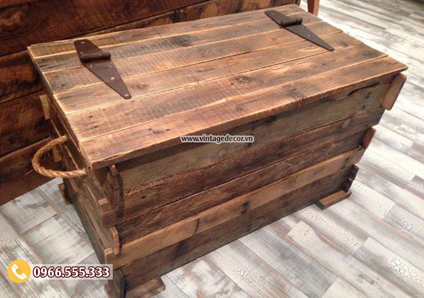 Mẫu rương gỗ cổ điển đẹp RG17