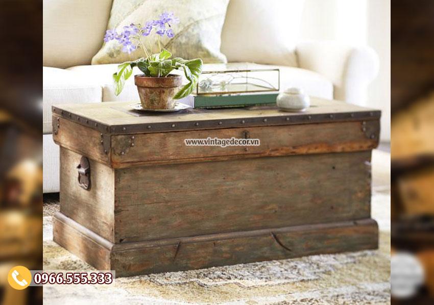 Mẫu rương gỗ bàn phong cách đẹp RG21