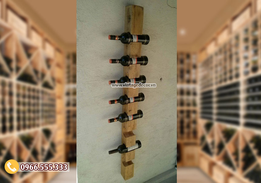 Mẫu kệ rượu treo tường đơn giản KR87