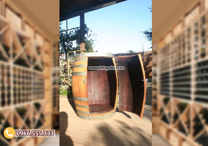 Mẫu tủ thông đựng rượu KR52