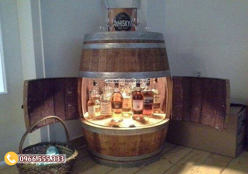 Mẫu thùng tủ rượu đẹp KR54