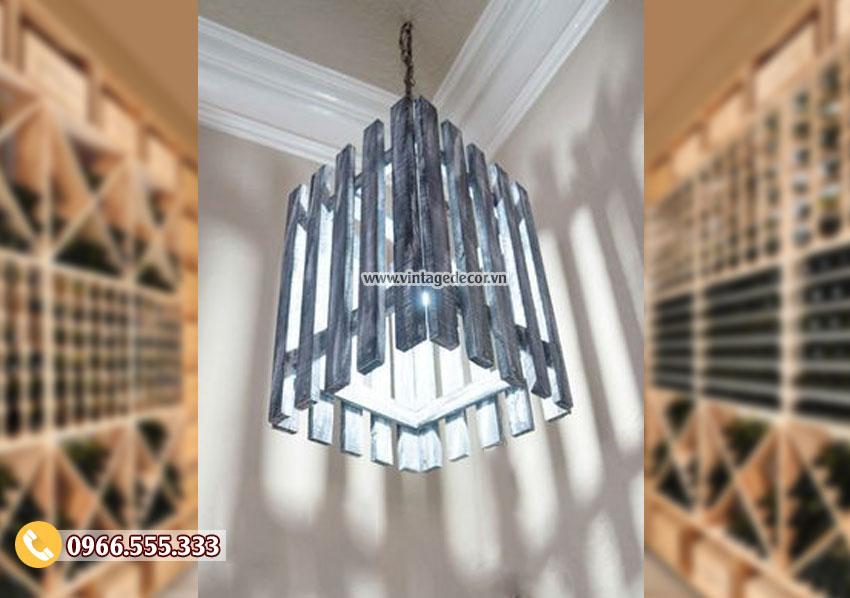 Mẫu đèn treo trần bằng gỗ DG103