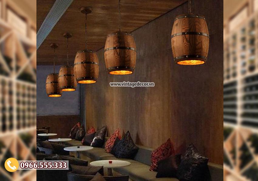 Mẫu đèn gỗ ngược thời gian DG099