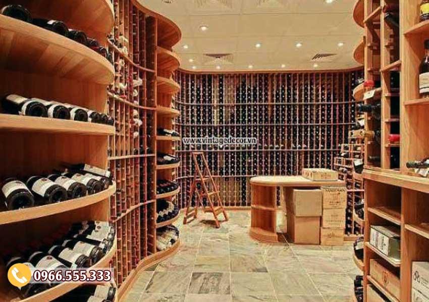 Mẫu thiết kế hầm lưu trữ rượu vang phong cách châu âu HR99