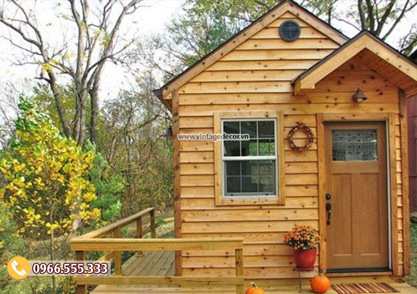 Mẫu thi công nhà gỗ homestay khu nghỉ dưỡng NB58