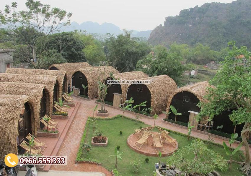 Mẫu bungalow resort khu du lịch sinh thái bến rừng NB28