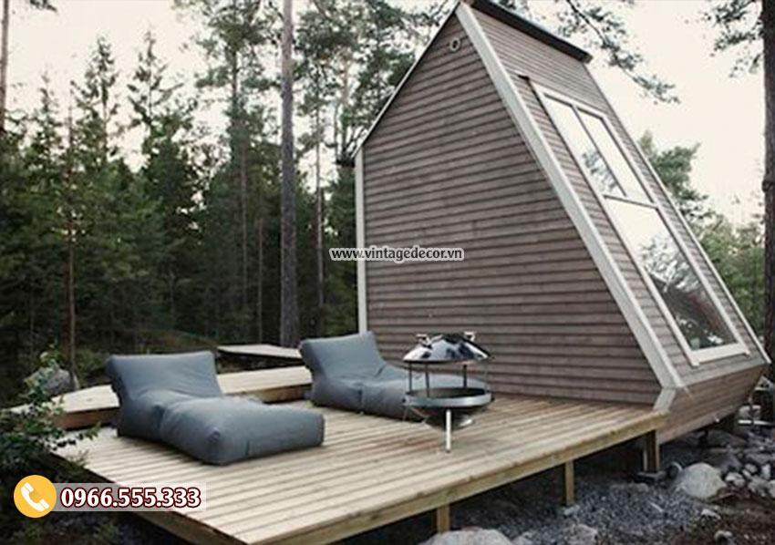 Thiết kế kiểu nhà gỗ bungalow mô hình khu du lịch sinh thái