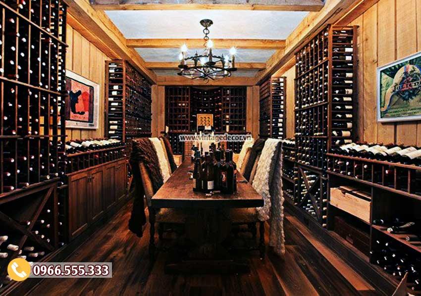 Chuyên thiết kế thi công hầm rượu cổ điển
