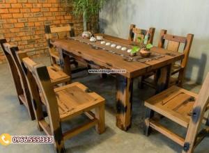 Mẫu bộ bàn ghế ăn phong cách cổ điển BG01