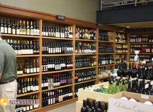 Mẫu thiết kế cửa hàng rượu vang bán lẻ CHR03