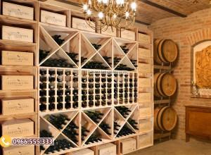 Mẫu tủ trưng bày rượu vang tùy chỉnh TBR01