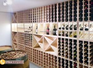 Mẫu tủ trưng bày rượu vang tùy chỉnh TBR02