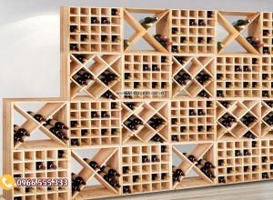 Mẫu kệ trưng bày rượu vang tùy chỉnh TBR04