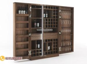 Mẫu tủ rượu gia đình gỗ sồi đẹp TBR06