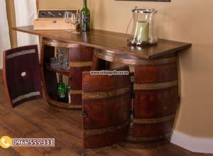 Mẫu bàn quầy thùng trống rượu DL07