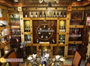 Mẫu thi công hầm rượu nhà hàng sang trọng BR83