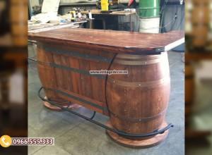 Mẫu quầy bar tái chế từ thùng trống rượu DL52