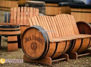 Mẫu ghế băng sofa thùng trống rượu vang DL38