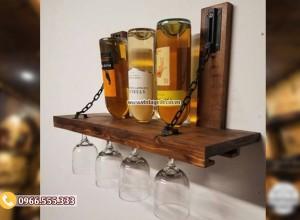 Mẫu kệ rượu vang treo tường KR59