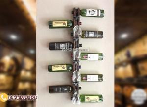 Mẫu kệ rượu vang trang trí đẹp KR64
