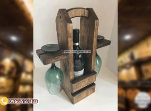 Mẫu kệ rượu vang trưng bày KR65