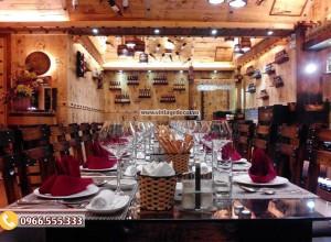 Mẫu trang trí nhà hàng chuyên rượu vang đẹp BR91