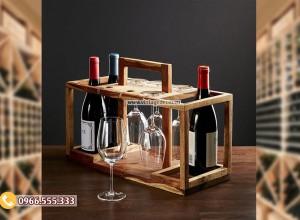 Mẫu kệ rượu đặt bàn trang trí đơn giản đẹp TBR103