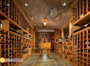 Mẫu thi công hầm lưu trữ rượu vang cổ điển HR104