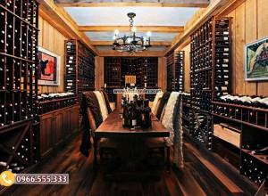 Mẫu thiết kế phòng rượu vang gia đình cổ điển HR100