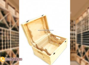 Mẫu hộp gỗ đựng rượu đơn giản HDR83