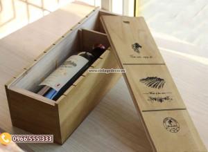 Mẫu hộp đựng rượu bằng gỗ thôngcao cấp HDR91