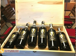 Mẫu hộp bằng gỗ đựng rượu vang HDR92