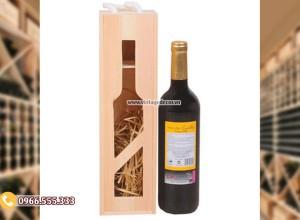 Mẫu hộp gỗ mini đựng rượuvang HDR95