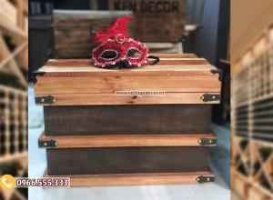 Mẫu rương gỗ sồi để đồ đặt phòng khách RG90